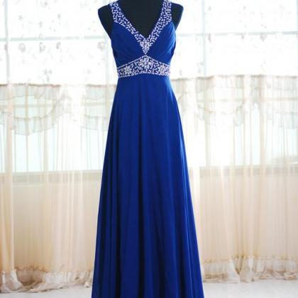 Long Bridesmaid Dresses V-neck Stra..