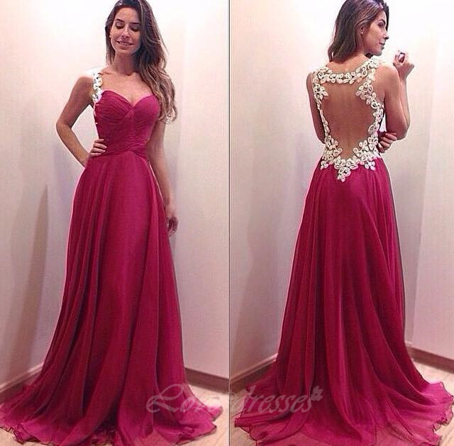 Sexy Open Back Long Prom Dresses Sweetheart Prom Dresses, Long ...