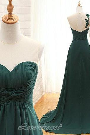 Asymmetric Dark Green Prom Dresses 2016 Ruffles Appliques Evening Dresses with Beadings S453