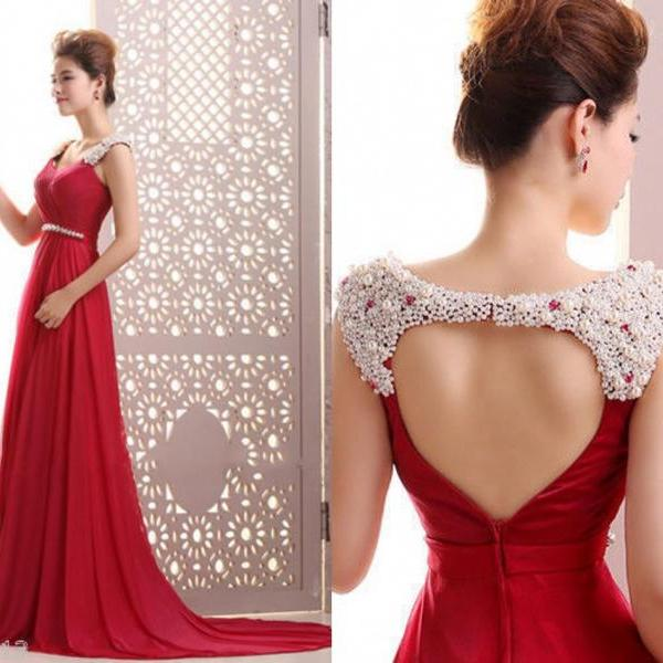 Red Prom Dresses 2015 Bridesmaid Dress Party Dresses Evening Dress S98